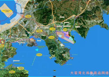 大连港大窑湾北岸区域实景图