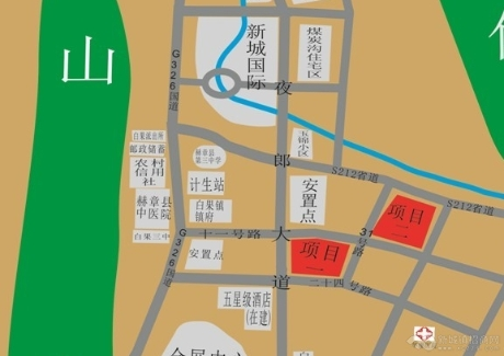 毕节市赫章县白果镇中心43亩商住地出让
