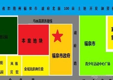 缺高端楼盘城市贵州福泉市政府旁核心区位100亩土地出让